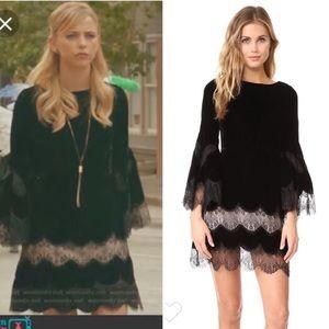 """Alice & Olivia """"Leann"""" velvet tunic dress XS"""